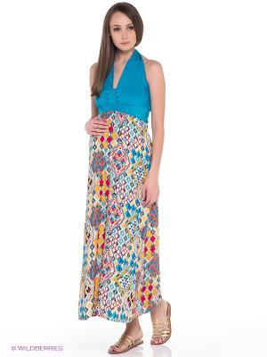 Сарафан для беременных ФЭСТ. Цвет: голубой, светло-оранжевый, красный, белый
