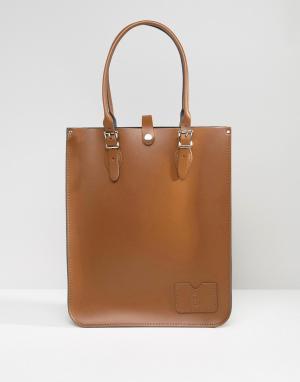 Leather Satchel Company Сумка-тоут. Цвет: коричневый