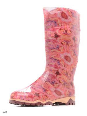Резиновые сапоги Дюна. Цвет: малиновый, бежевый, розовый