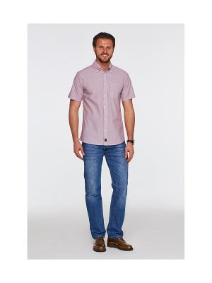 Рубашка Westrenger. Цвет: синий, желтый
