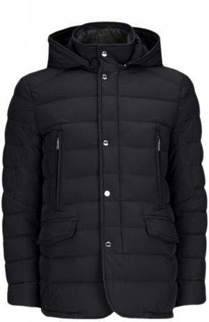 Куртка с капюшоном Moorer. Цвет: темно-синий