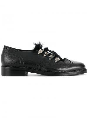 Туфли со шнуровкой Toga Virilis. Цвет: чёрный