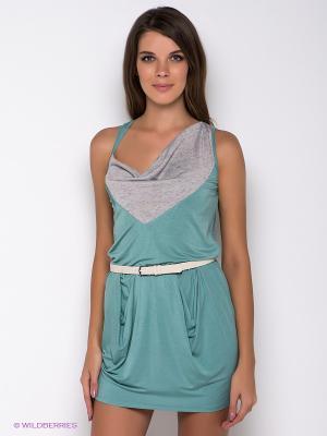 Платье Formalab. Цвет: серо-зеленый, светло-серый