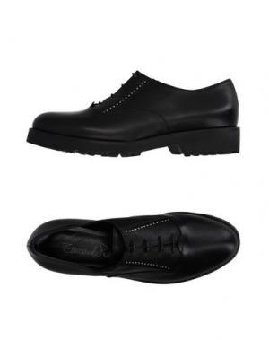 Обувь на шнурках EMANUELA PASSERI. Цвет: черный