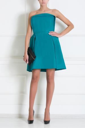 Платье-бюстье Delpozo. Цвет: бирюзовый