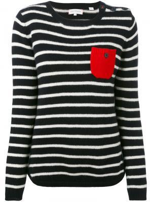 Cashmere striped sweater Chinti And Parker. Цвет: чёрный