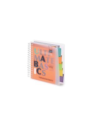 Бизнес-блокнот-2 а6, 150 л. гр., разделители, пластиковая обл. ultimate basics, оранжевый Альт. Цвет: оранжевый