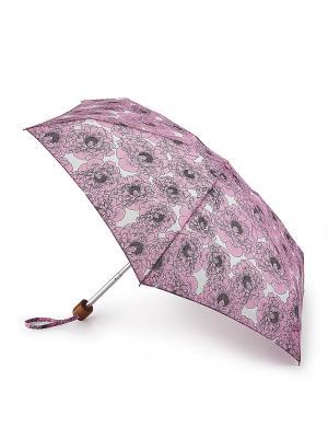 Зонт Механика Fulton. Цвет: розовый