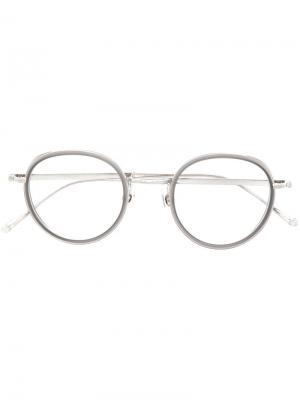 Очки в круглой оправе Matsuda. Цвет: серый