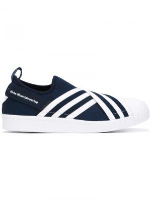Кеды-слипон Superstar Adidas By White Mountaineering. Цвет: синий