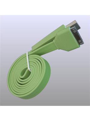 Usb кабель Pro Legend плоский Iphone 4, 30 pin, 1м,  зеленый. Цвет: зеленый