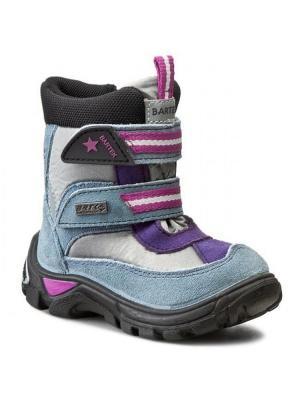 Ботинки Bartek. Цвет: серый, фиолетовый