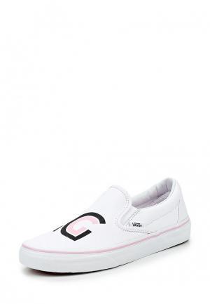 Слипоны Vans. Цвет: белый