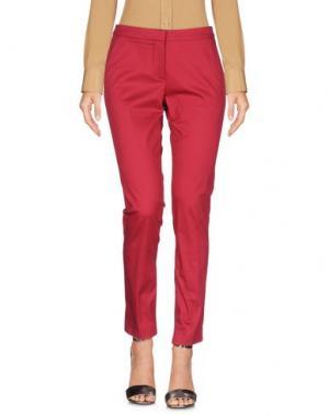 Повседневные брюки KI6? WHO ARE YOU?. Цвет: красный