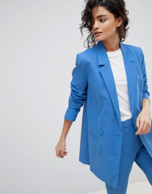 Gestuz Двубортный пиджак. Цвет: синий