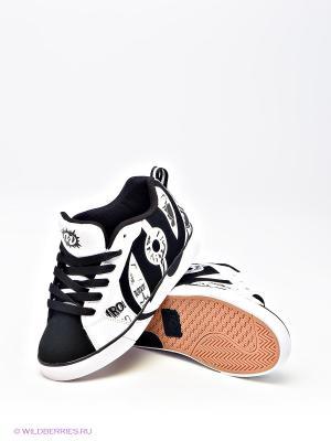 Роликовые кроссовки Heelys. Цвет: черный, белый