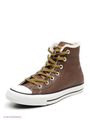 Кеды Converse. Цвет: коричневый, белый