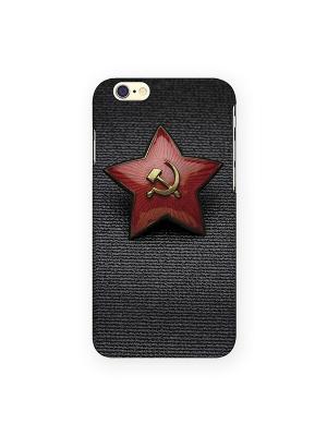 Чехол для IPhone 6 Звездочка СССР Mitya Veselkov. Цвет: темно-серый, желтый, красный