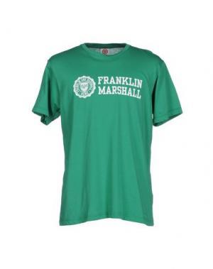 Футболка FRANKLIN & MARSHALL. Цвет: зеленый