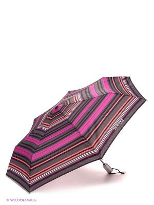 Зонт Isotoner. Цвет: коричневый, малиновый, оранжевый, белый