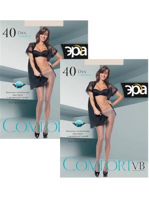Колготки Comfort VB 40, 2 пары ЭРА.. Цвет: бежевый