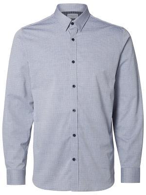 Рубашка SELECTED. Цвет: синий