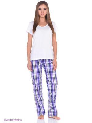 Домашние брюки JANNETTE. Цвет: сиреневый