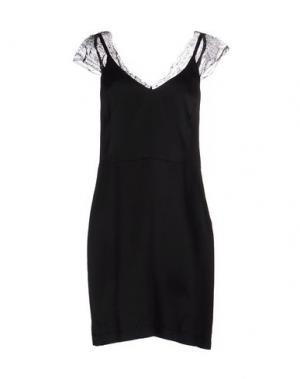 Короткое платье BLUE DEEP. Цвет: черный