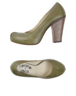 Туфли FIORENTINI+BAKER. Цвет: зеленый-милитари