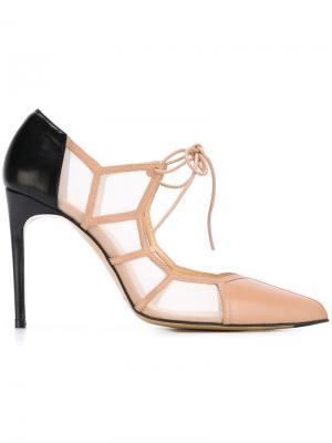 Туфли-лодочки Angelique Bionda Castana. Цвет: телесный