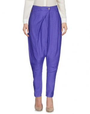 Повседневные брюки MANILA GRACE DENIM. Цвет: фиолетовый
