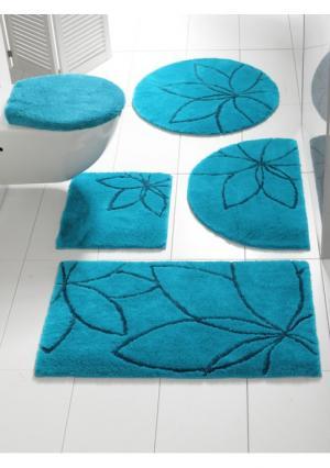 Коврик для ванной Heine Home. Цвет: зелено-синий, зеленый, оранжевый, серый, черный