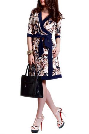 Платье FRANCESCA LUCINI. Цвет: бежевый, гортензия