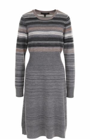 Шерстяное приталенное платье Marc Jacobs. Цвет: серый