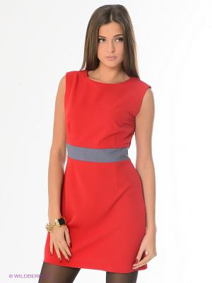 Платье L.A.S. Цвет: красный, серый