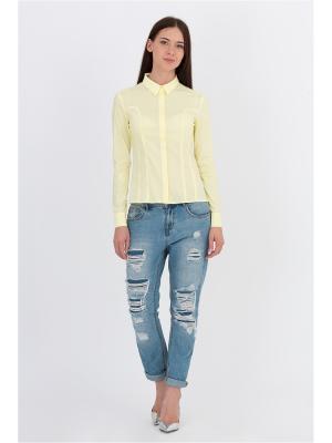 Блузка EMKA FASHION. Цвет: светло-желтый