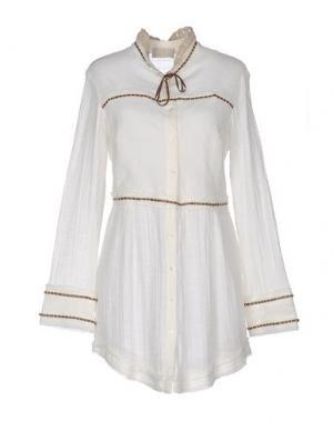 Pубашка ROBERTA SCARPA. Цвет: белый