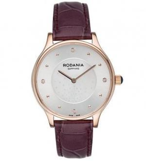 Часы с фиолетовым кожаным браслетом RODANIA