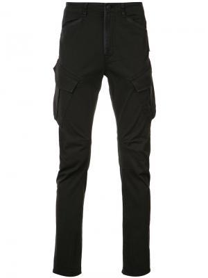 Зауженные брюки Hudson. Цвет: чёрный