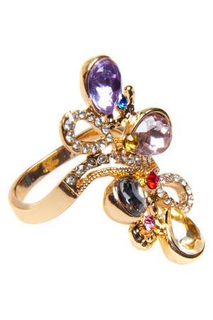 Кольцо Luisa Vannini Jewelry. Цвет: gold and multicolor