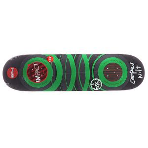 Дека для скейтборда  S5 Cooper Glow x Dark Impact Green 31.7 8.25 (21 см) Almost. Цвет: серый,зеленый