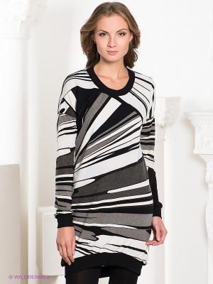 Платье MELANY. Цвет: черный, серый, белый