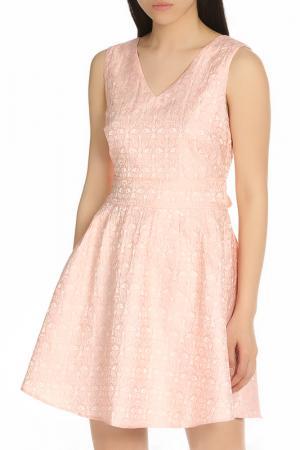 Летнее коктейльное платье Iska. Цвет: розовый
