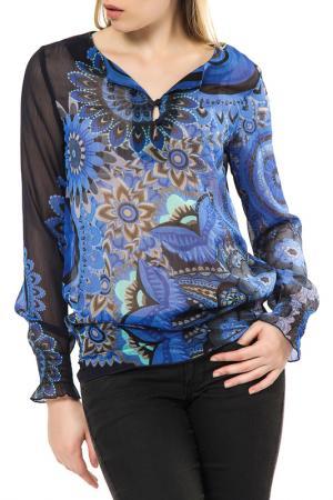 Блуза Desigual. Цвет: black and blue
