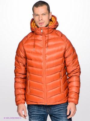 Куртка LIAN DOWN Quiksilver. Цвет: терракотовый