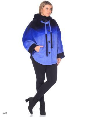 Пончо Скат LIKSTY. Цвет: темно-синий, светло-голубой