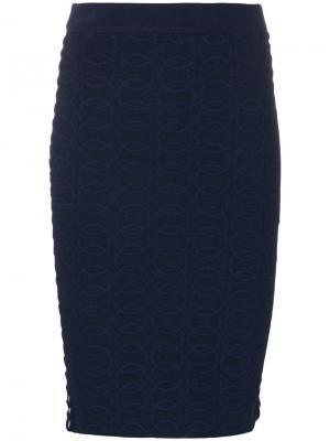 Юбка мини Jonathan Simkhai. Цвет: синий