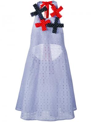 Платье с открытой спиной Anna K. Цвет: синий