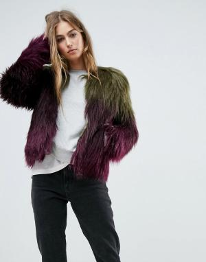 Unreal Fur Куртка Liquid Fudge. Цвет: мульти