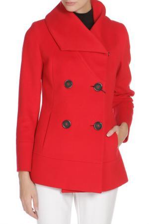 Полуприлегающее пальто с застежкой на пуговицы Cinzia Rocca. Цвет: красный